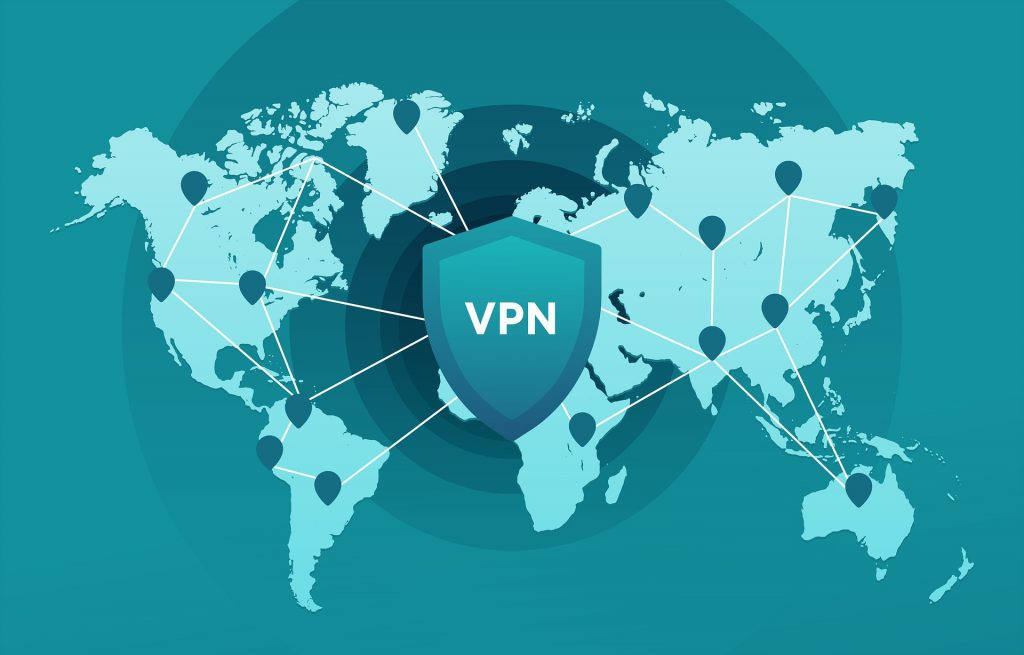 an image of a vpn service protecting the map